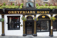 Greyfriars Bobby Pub on Candlemaker Row in Edinburgh city centre,