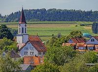 Illmensee mit Kirche Mariä Himmelfahrt