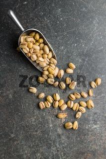 The pistachio nuts.