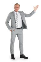 Businessman pointing with hand