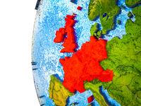 Western Europe on 3D Earth