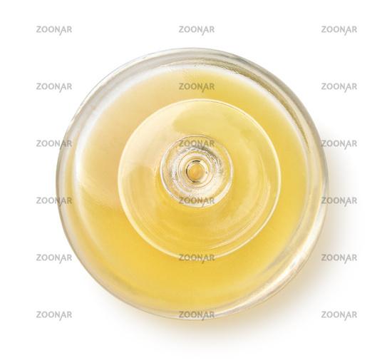 Top view of open parfume bottle