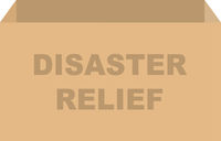 Disaster Relief Donation Box Vector