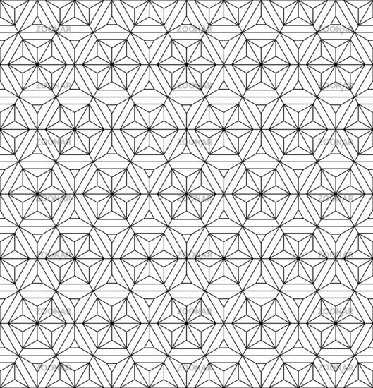 Seamless geometric pattern based on japanese ornament kumiko .