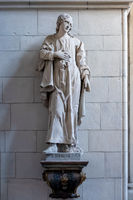 St. John statue apostle in a church in Muenster Germany