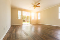 Empty Room of New House With Hard Wood Floors