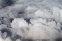 View of the sky above the clouds