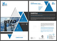 Abstract Geometric Flyer Template with Triangles