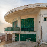 External shot of an old house by the Mediterranean Sea at Montaza park, Alexandria, Egypt, known as the villa of Mr Hussein El Shafei late vice president of Egypt
