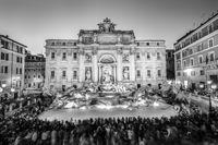 Rome Trevi Fountain or Fontana di Trevi in Rome, Italy.