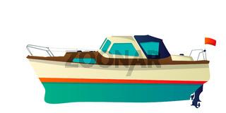 Vector speed boat, yacht