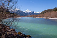 Lech river in Bavarian Alps, Germany
