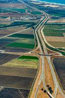 Farmland and Freeway 101 in California