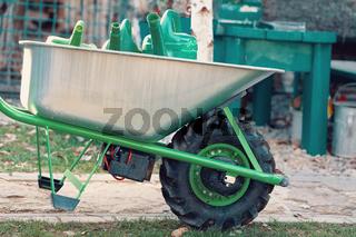 electrify powered motorized garden wheelbarrow