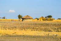 Traditional tribal hut of Kenya people. .