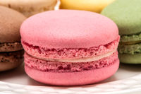 French Macaroons On White Boards