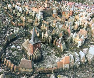 Tiny Fairy Clay Medieval Houses