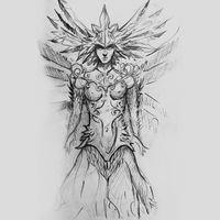 zodiac, drawing of warrior with armor, tattoo drawing on gray background