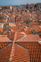 Rooftops of old houses in Dubrovnik