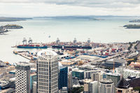 view to the Auckland harbour New Zealand