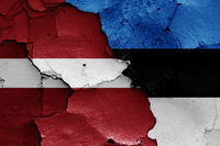 flags of Latvia and Estonia