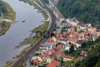 Stadt Königstein an der Elbe, Sachsen, September