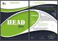 Modern Flyer Template with Abstract Shapes