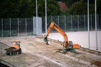 Baustelle Trainingsplätze