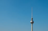Tv tower isolated,  Television Tower ( Fernsehturm) in Berlin