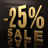 25 Percent Sign