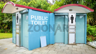 public toilet in New Zealand
