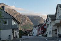 Abendlicht in Andalsnes und dem Isfjord