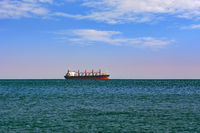 Cargo Ship in the Sea