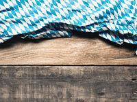 Bavarian flag on rustic wood