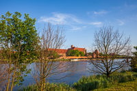 Nogat River and Malbork Castle in Poland