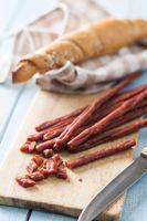 Sausage sticks snack.