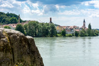 Riverside at the river Inn in Passau