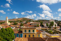 View from roof on the street in Trinidad, Cuba