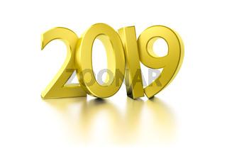 golden happy new year 2019