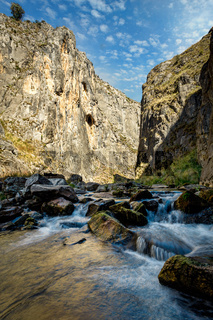 Creek flowing through beautiful gorge in Snowy Mountains