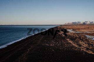 Coast view over Reynisfjara, Iceland