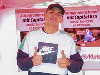 Rapper Capital Bra auf Promotour am 22.06.2018 in Magdeburg