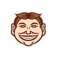Funny Face Front Icon Retro