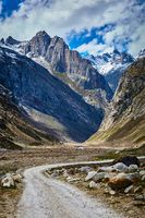 Road in Lahaul Valley, India