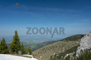 Landscape image on Kampenwand