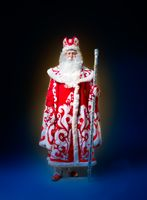 Santa Claus isolated on bluebackground. Ded moroz
