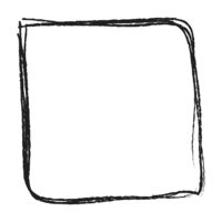 Black hand-drawn square frame on white