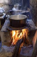 Traditional wood burning stove