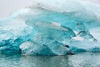 Closeup of iceberg in Fjallsarlon glacier lagoon, Iceland