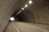 empty illuminated car or road tunnel